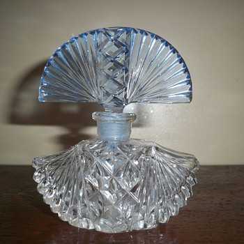 Czech perfume bottle with Blue stopper