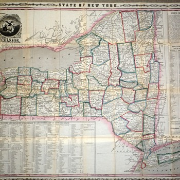 My favorite map Ny State  by Thayer Co. - Paper