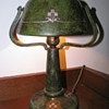 Heintz Art Metal Company &quot;Helmet&quot; Lamp w/ Verde Patina