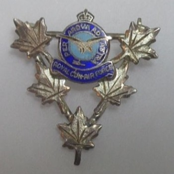 RCAF Sterling Pin Maple Leaf Sweetheart or Victory Pin? - Military and Wartime