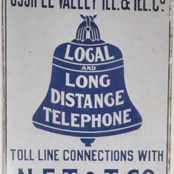 Ossipee Valley Tel. &amp; Tel. Co. Porcelain Sign
