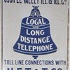 Ossipee Valley Tel. & Tel. Co. Porcelain Sign