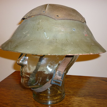 British WWII Civil Defence helmet - Military and Wartime