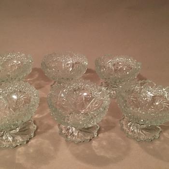 Vintage Sawcut Glass Bowls