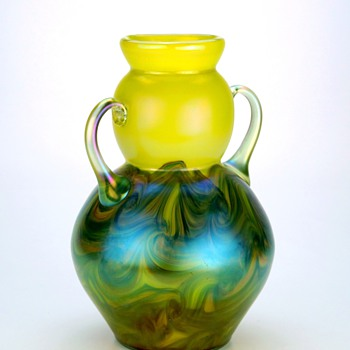 Glasfabrik Schliersee glass vase documented design  #109 - Art Glass
