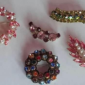 A few of my costume jewellery brooches