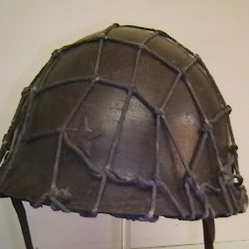 Original WW II Imperial Japanese Army  Helmet with Net - Military and Wartime