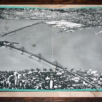 San Francisco Bay Bridge Poster - Soon After Construction? - Posters and Prints
