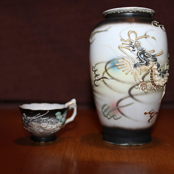 Japanese Vase and tea cup - Asian