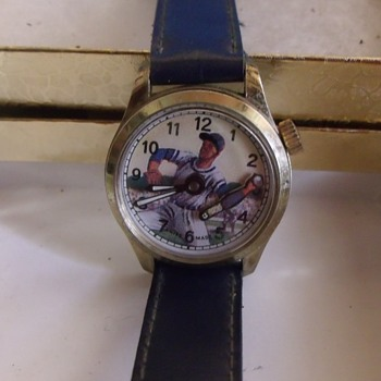 "Animated Feature ""Baseball Player"" Wrist Watc - Wristwatches"