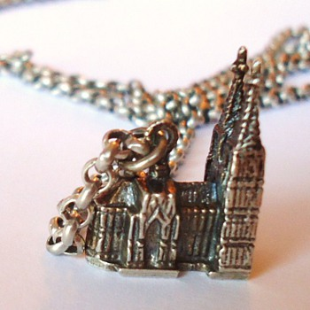 German 800 silver necklace with KOLN Church   Cute