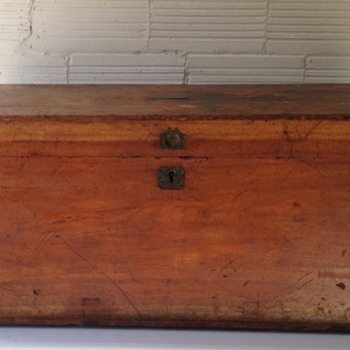 Antique Wood Chest  - Furniture