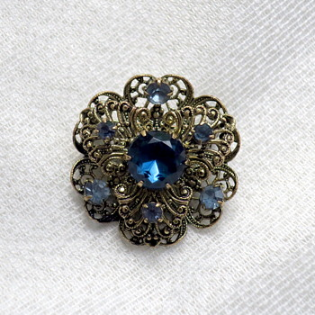 Czech brooch - Costume Jewelry