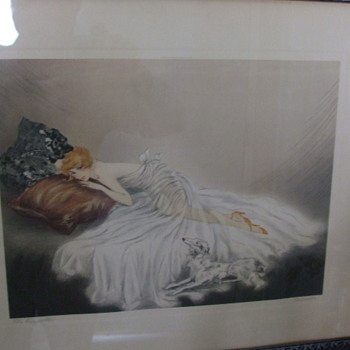 Louis Icart Type Lithograph/Print &quot;THE COQUETTE&quot; signed CERVENKA