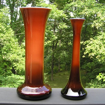 Imperial Freehand Art Glass Vases