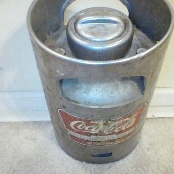 old Coca-Cola metal mixing tank