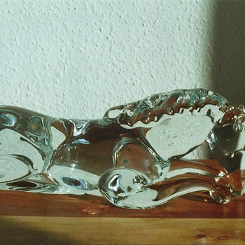 ermanno nason horse - Art Glass