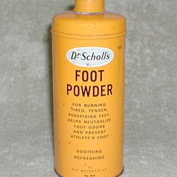 Dr. Scholls Foot Powder tin - Advertising