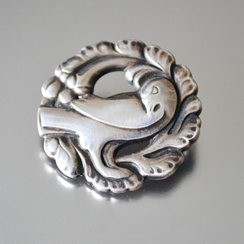 Georg Jensen Vintage Sterling Silver Dove brooch #134 - Fine Jewelry