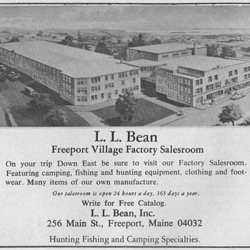 1967 - L.L. Bean Advertisement