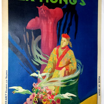 "Original Fak Hong ""Japanesse Review"" Stone Lithograph Poster - Posters and Prints"
