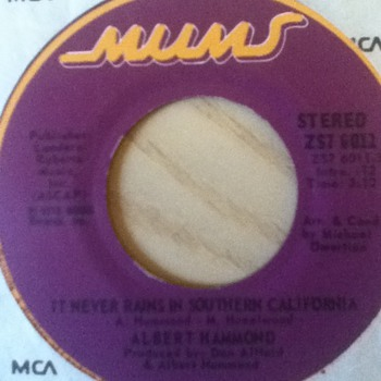 Albert Hammond 45 Record