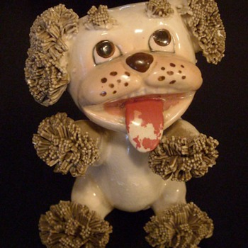 Cartoon Ceramic Nippon Yoko Boeki Co. Dog Figurine