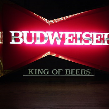 '70s Style Budweiser Fluorescent Sign for Brunswick (Thomas) - Breweriana