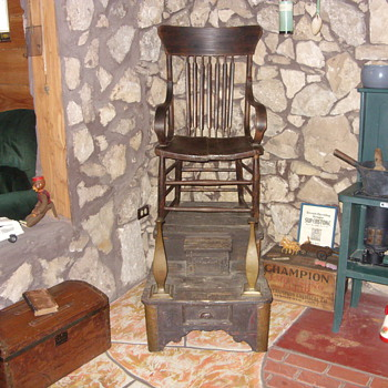 old shoe shine stand - Furniture