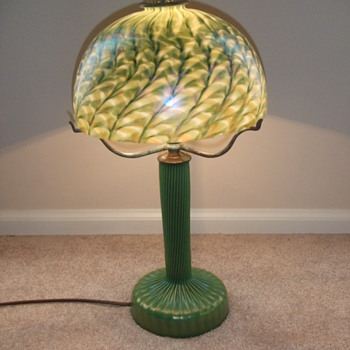Lundberg art glass desk lamp