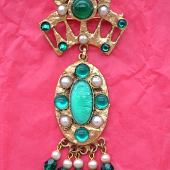 Pendant /Brooch and Earrings by Henry - circa 1960's - Costume Jewelry