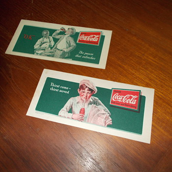 1932 Coca-Cola Ink Blotters