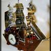 Vintage UNITED BOAT / SHIP CLOCK - w/Lights