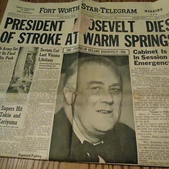 President Roosevelt Dies