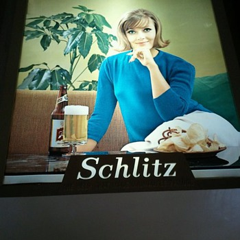 Rare Schlitz Beer Sign