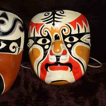 Japanese [?] Masks i found at the flea market yesterday - Asian
