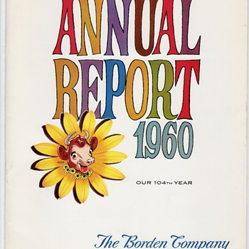 1960 BORDEN ANNUAL  REPORT - Paper