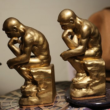 The Thinker - Pair of Bookends - Books