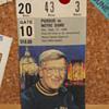 Purdue vs Notre Dame ticket stub Sept.27 1986