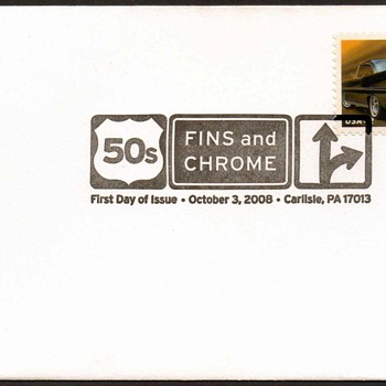 2008 - '57 Lincoln Premiere Stamp First Day Cover