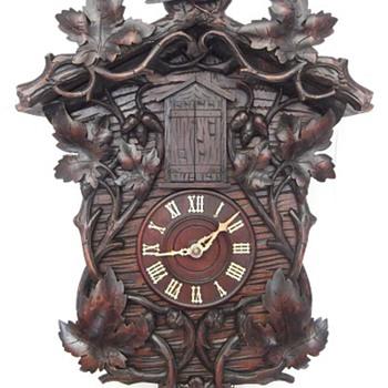 GHS trumpeter clock, like a cuckoo Ca. 1890.  - Clocks