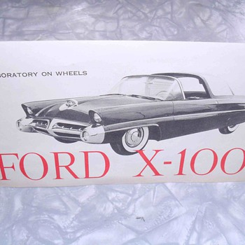 Ford X-100 Laboratory on wheels specification sheet. - Paper