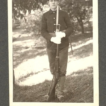 Soldier with a Krag rifle