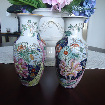 A PAIR OF ASIAN VASES