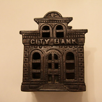 cast iron coin bank - Coin Operated