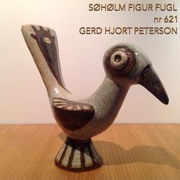 SØHØLM FIGUR FUGL nr 621 GERD HJORT PETERSON - Pottery