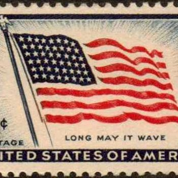 "1957 - ""Old Glory"" Postage Stamp (US)"