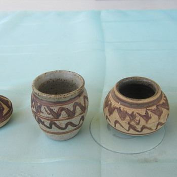 Miniture Pottery vases - Art Pottery