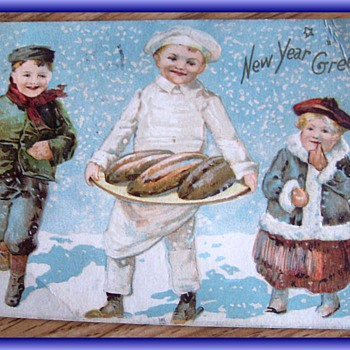 1907 - NEW YEAR GREETING Card