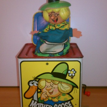 "1971 ""Mother Goose In The Music Box"" Jack in the box Toy"